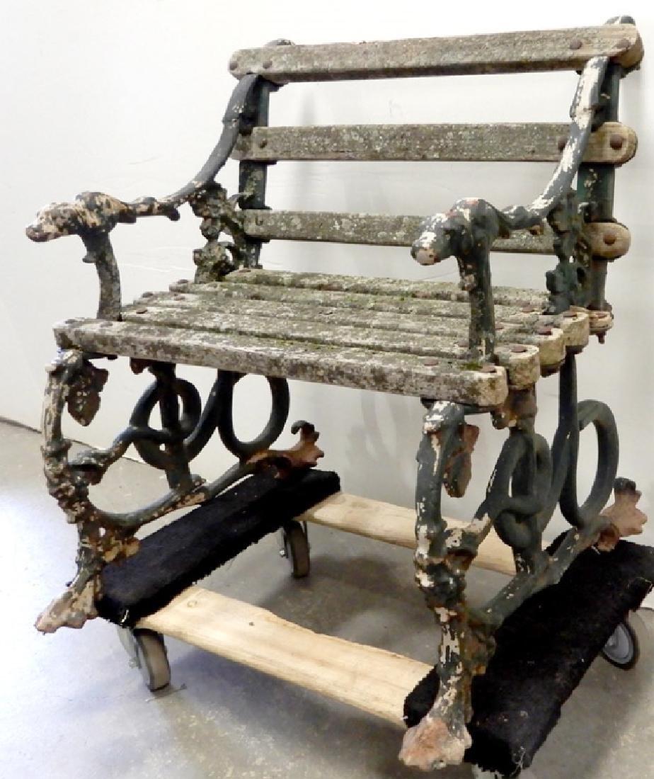 Iron garden bench - 3