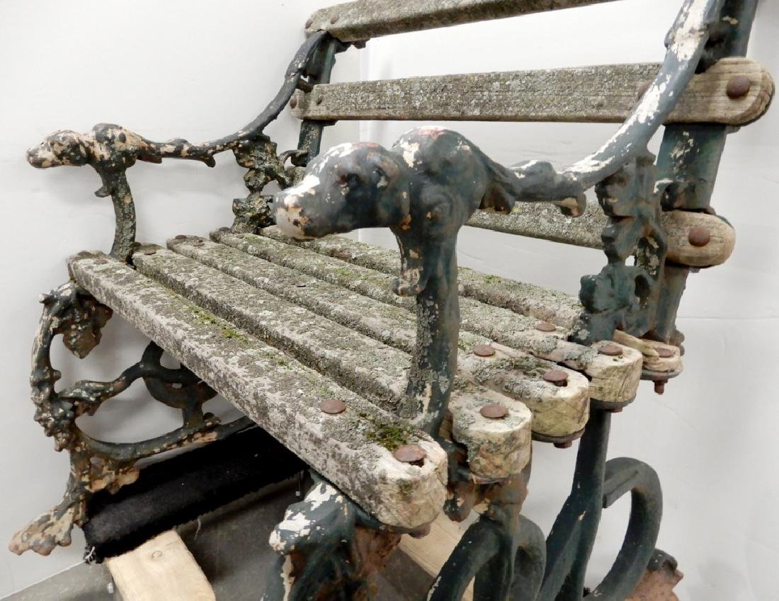 Iron garden bench - 5