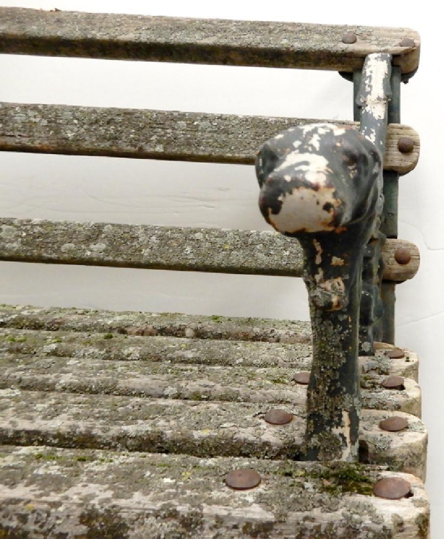 Iron garden bench - 6