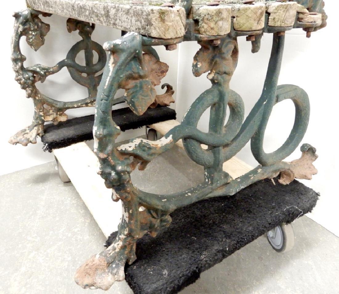 Iron garden bench - 7