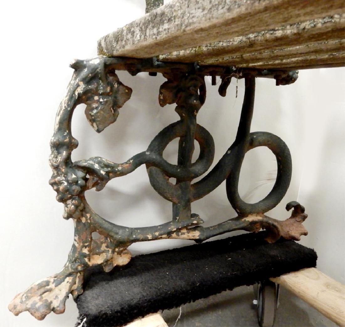 Iron garden bench - 8