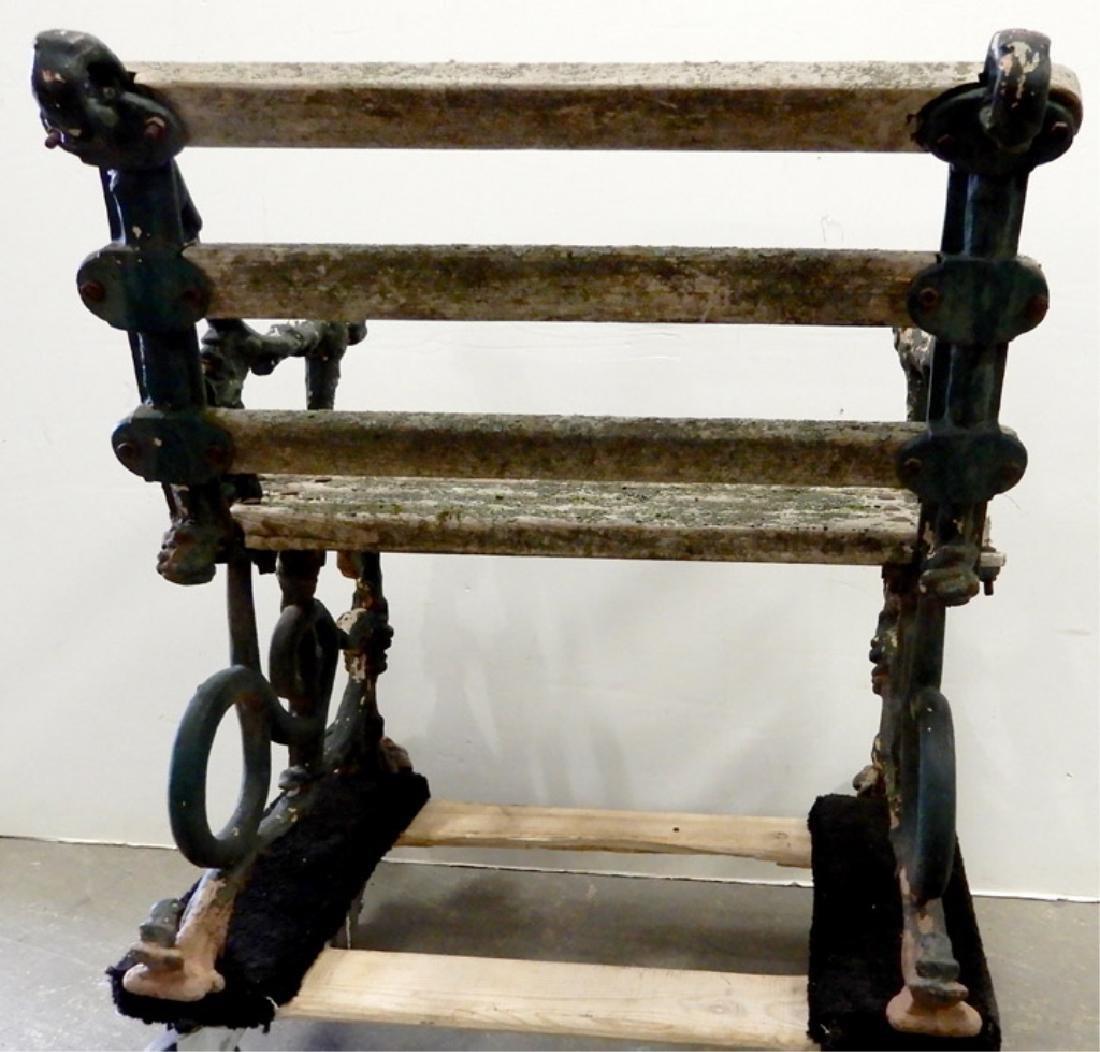 Iron garden bench - 9