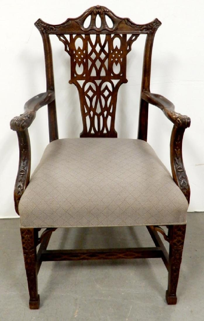 Century Chinese Chippendale style armchair