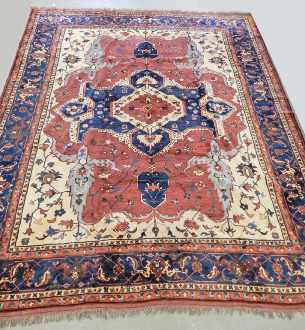 Hand tied Persian carpet Turkish Heriz