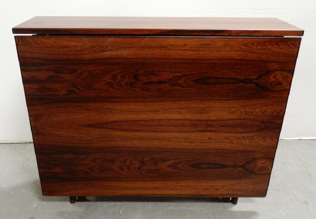 Rosewood drop-leaf dining table
