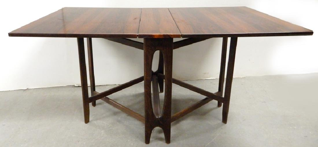 Rosewood drop-leaf dining table - 3