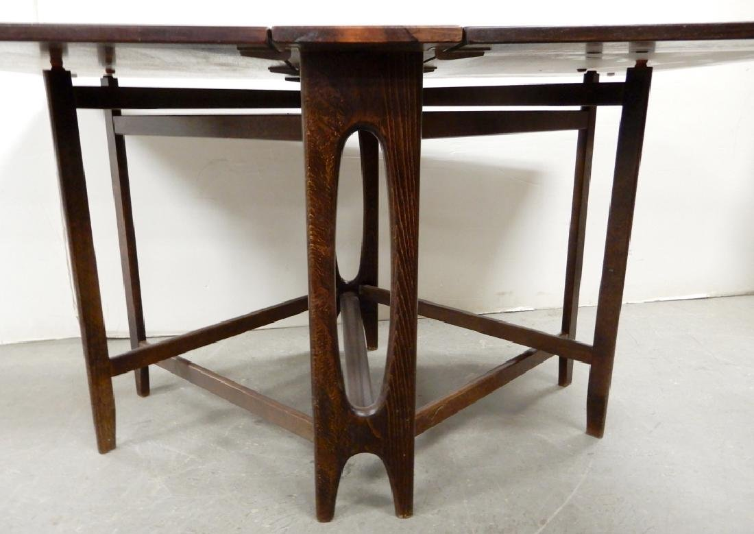 Rosewood drop-leaf dining table - 4