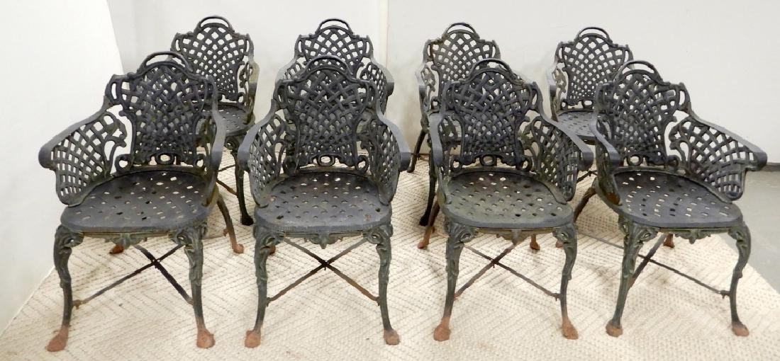 Victorian cast iron garden chairs