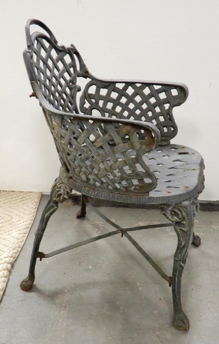 Victorian cast iron garden chairs - 3