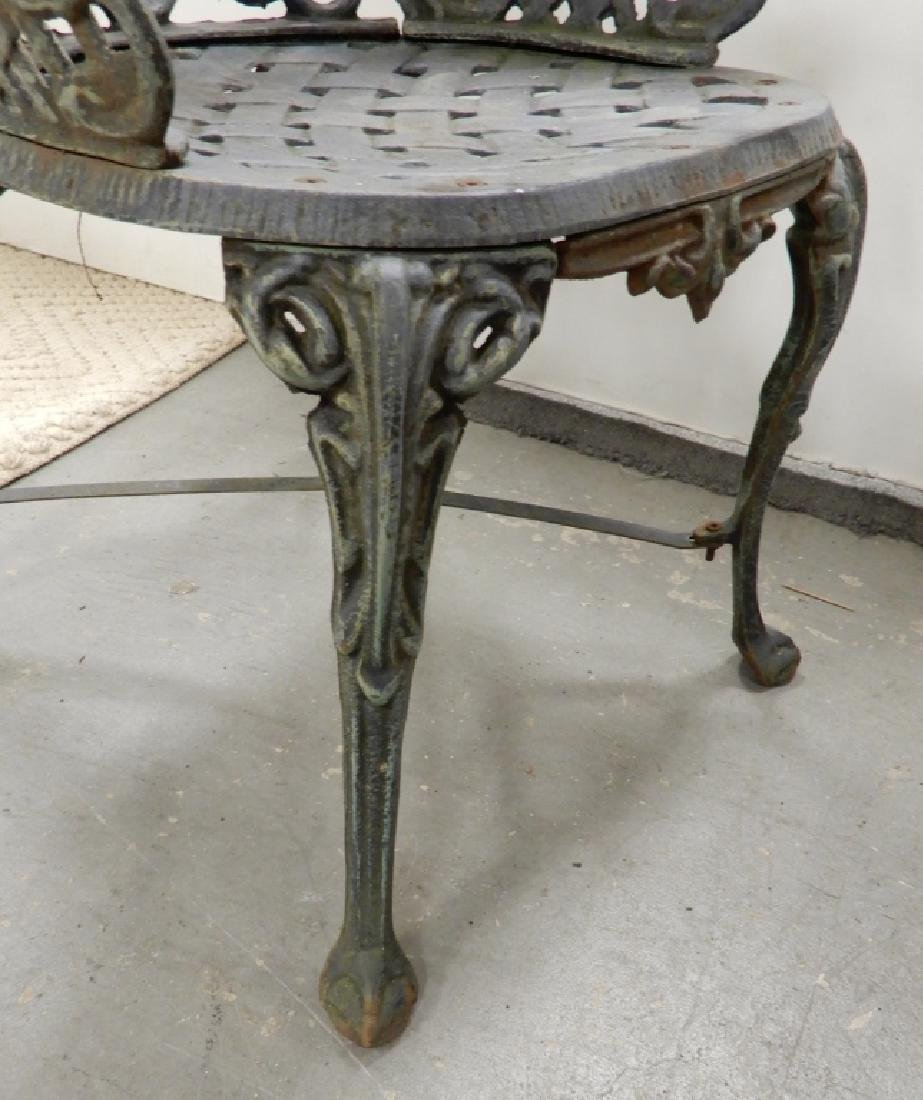 Victorian cast iron garden chairs - 4