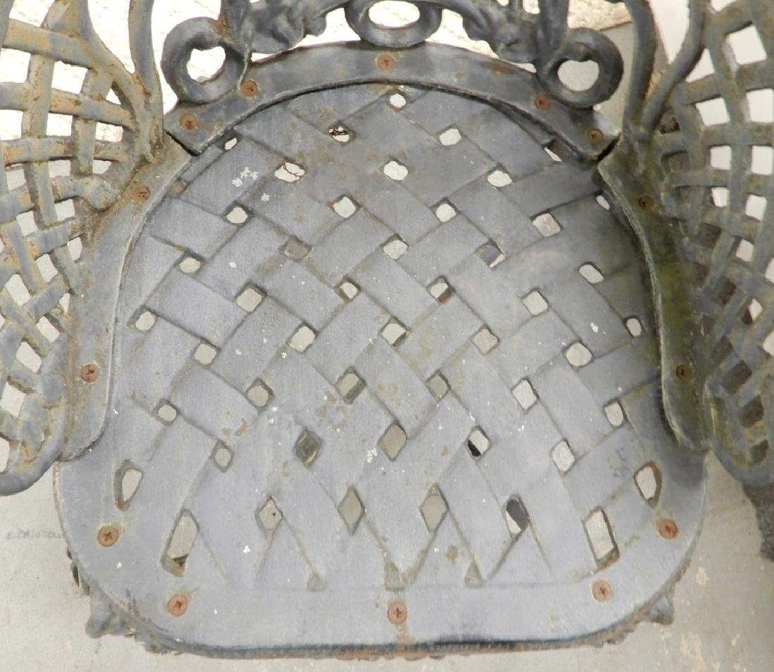 Victorian cast iron garden chairs - 5