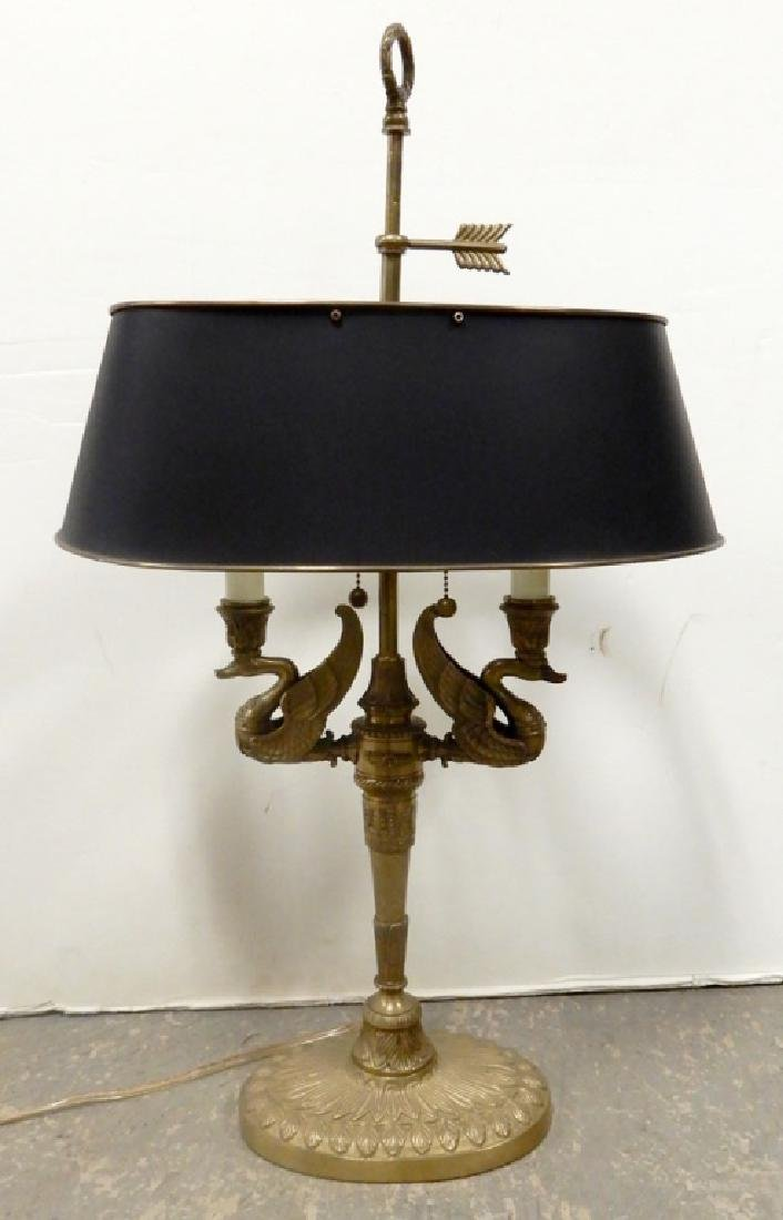 Bouillotte style lamp