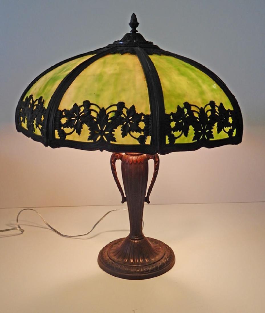 Slag glass panel lamp - 8