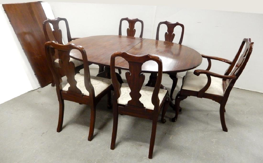 Kittinger two piece dining table with Henkel Harris