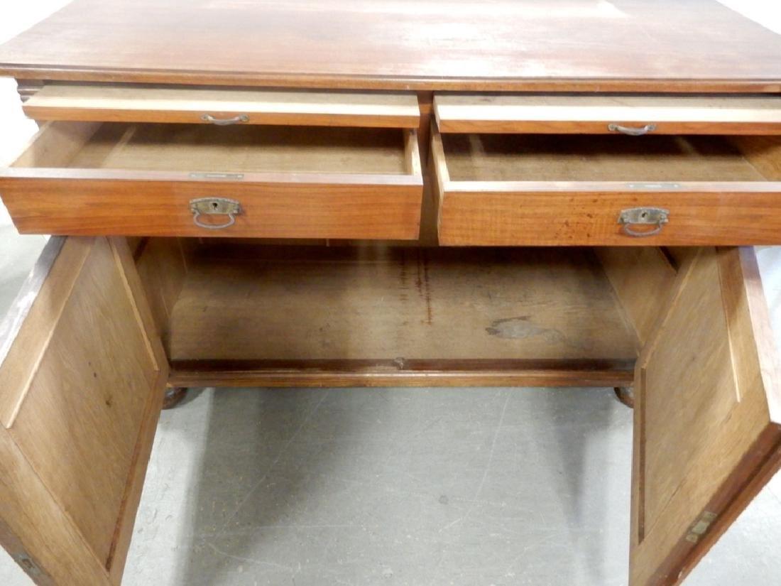 Two piece walnut sideboard - 10