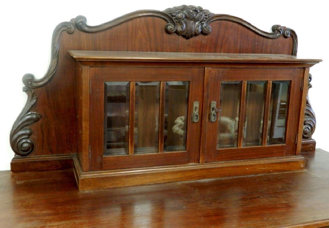Two piece walnut sideboard - 3