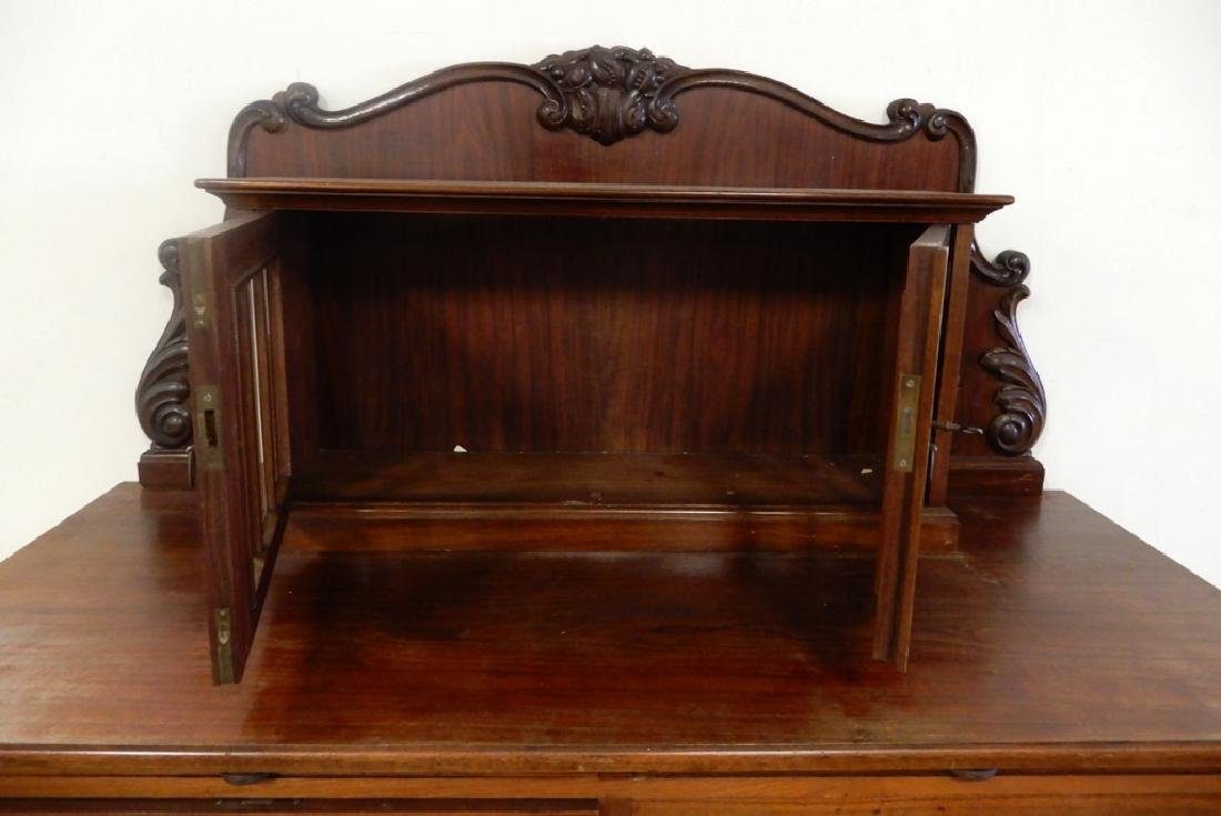 Two piece walnut sideboard - 4
