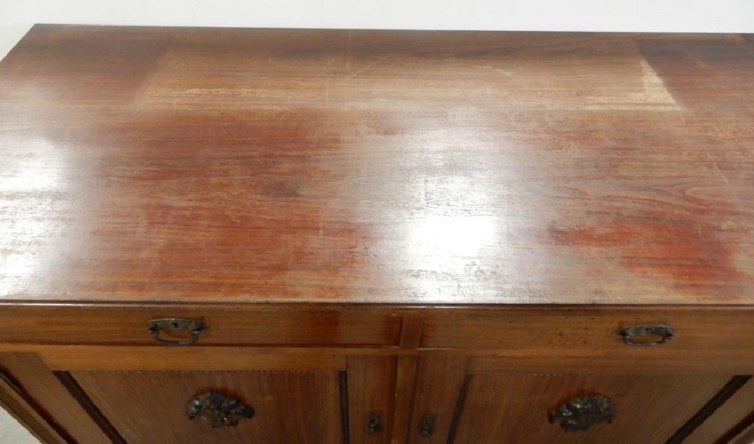 Two piece walnut sideboard - 8