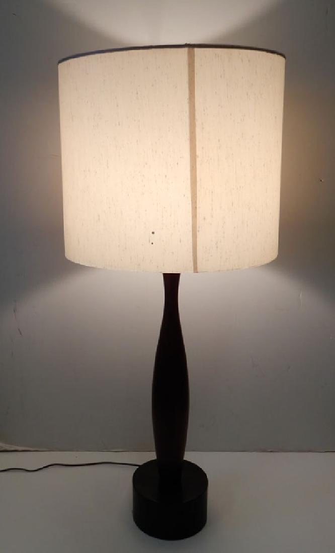 Mahogany mid C. modern lamp
