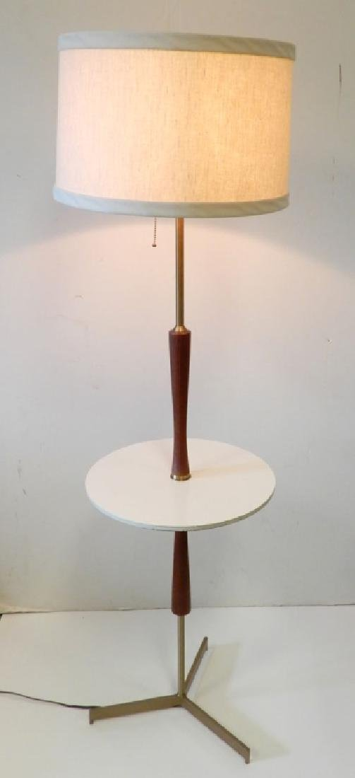 Teak and brass modern lamp table