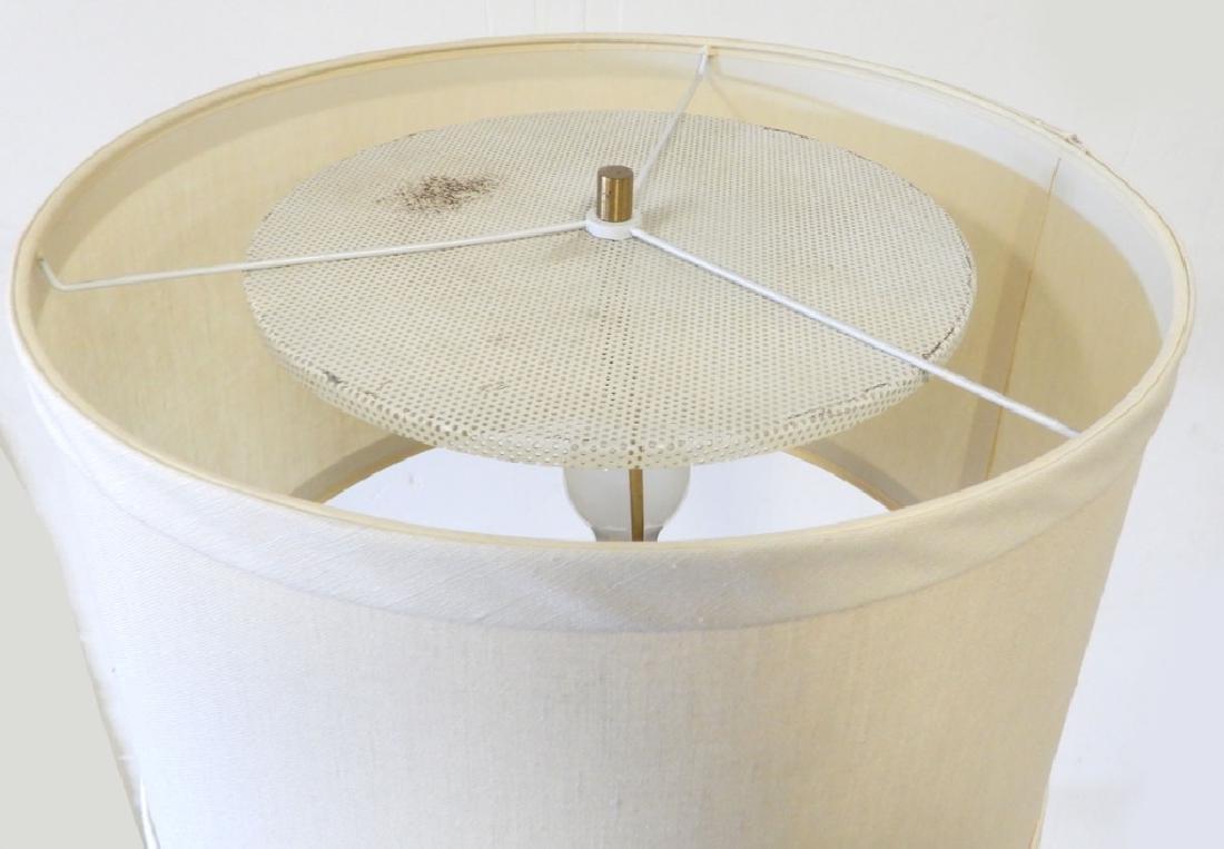 Teak and brass modern lamp table - 3