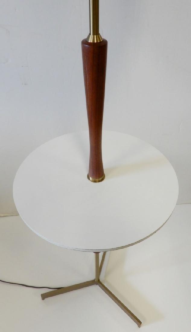 Teak and brass modern lamp table - 4