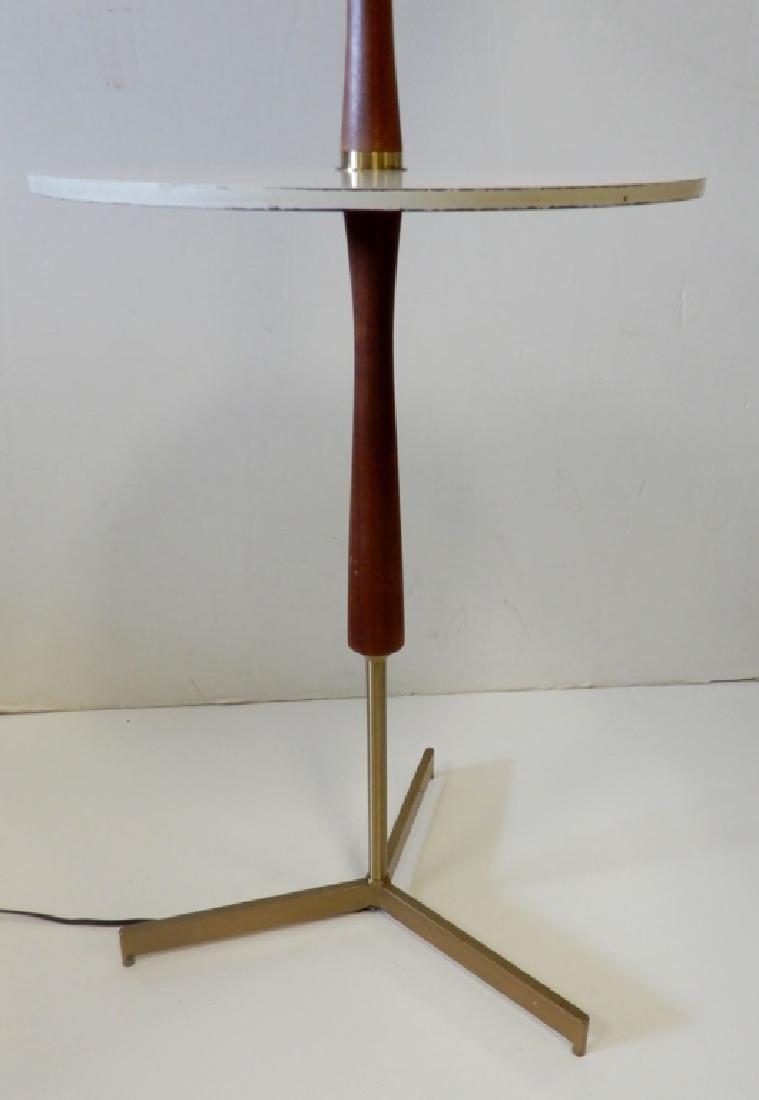 Teak and brass modern lamp table - 5