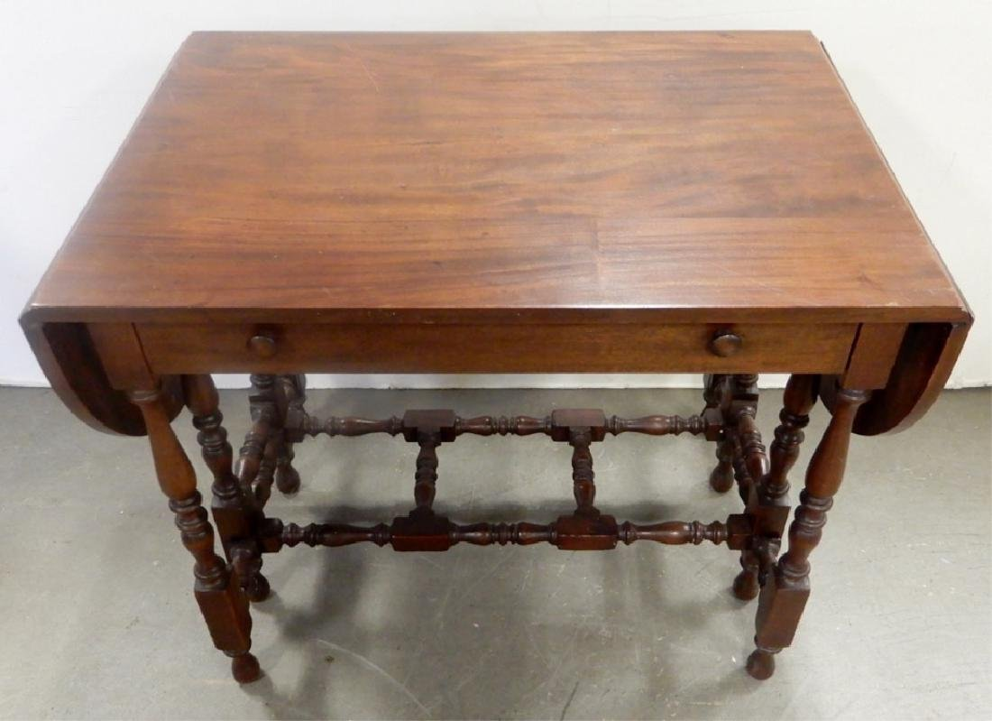 Kittinger Buffalo mahogany gateleg serving table - 2