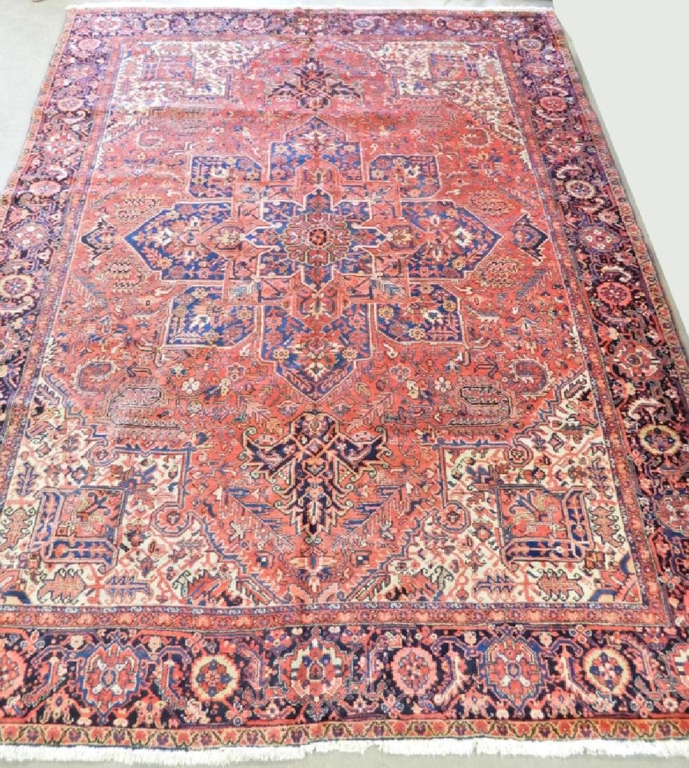 Hand tied Persian carpet Heriz