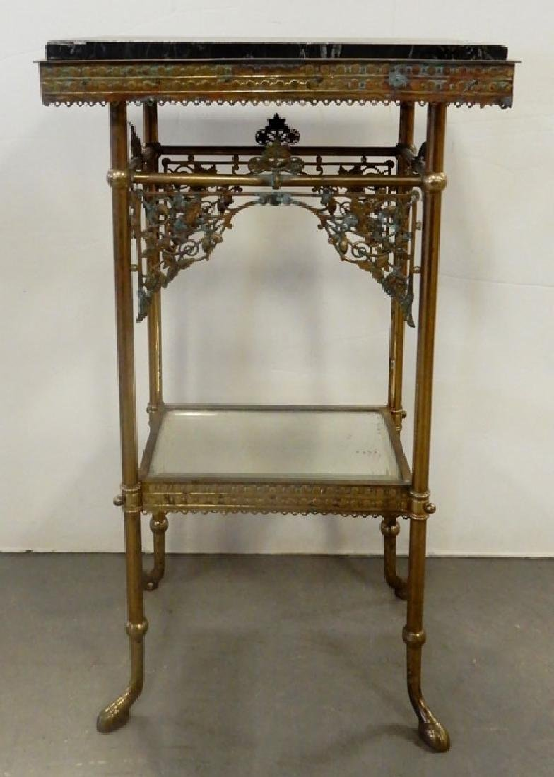 Marble top brass stand