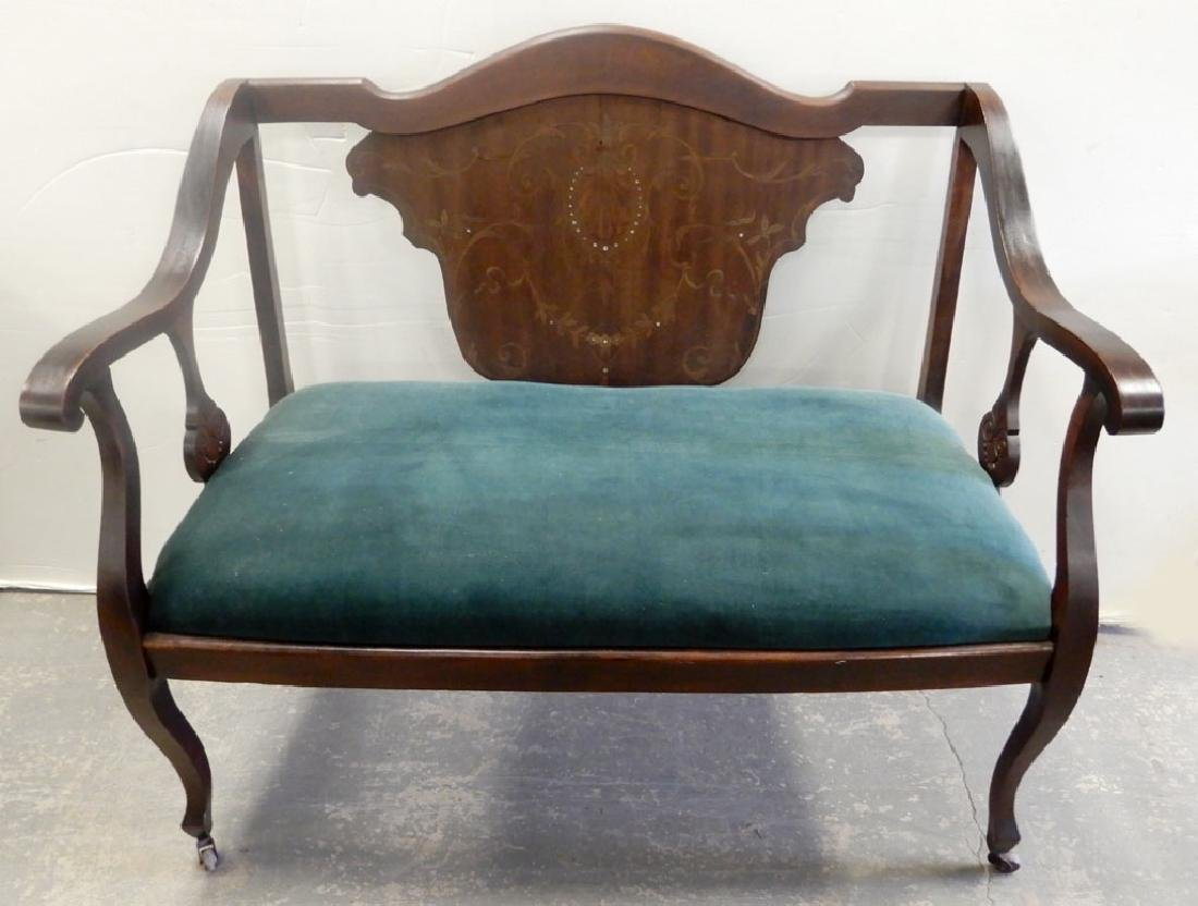 Settee with inlay