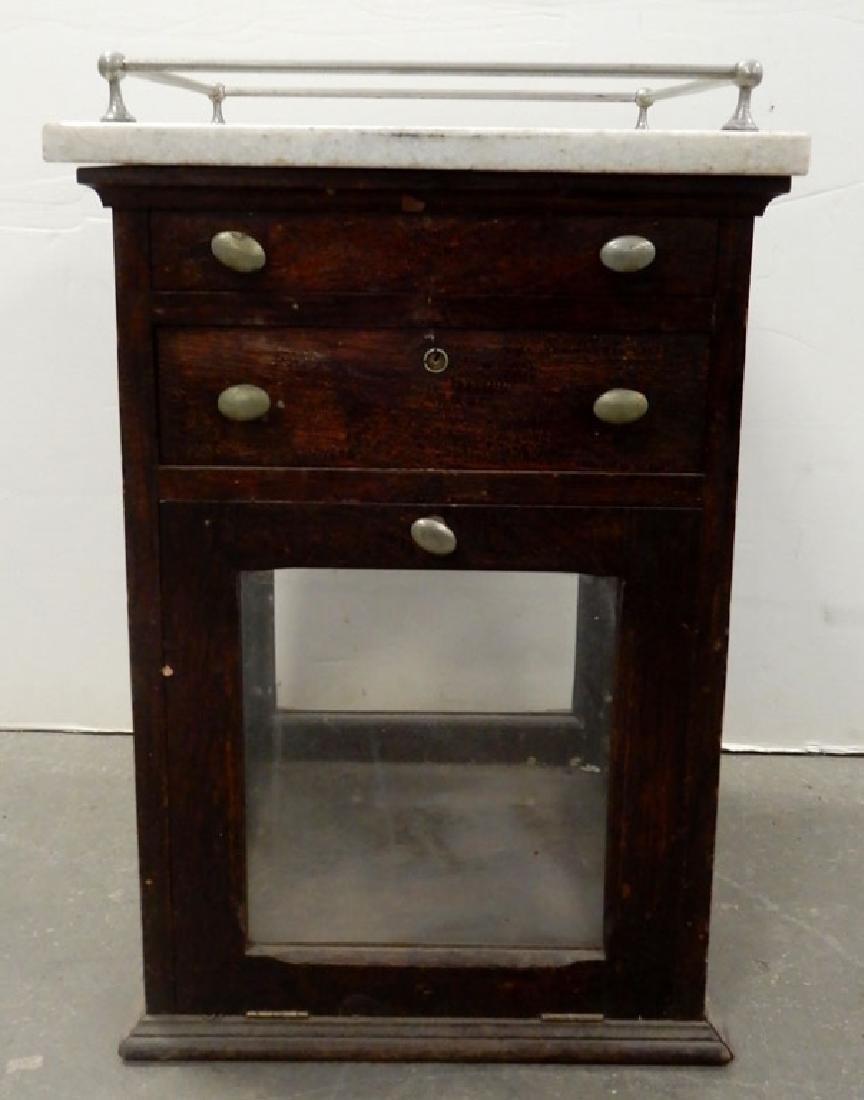 Oak store display cabinet