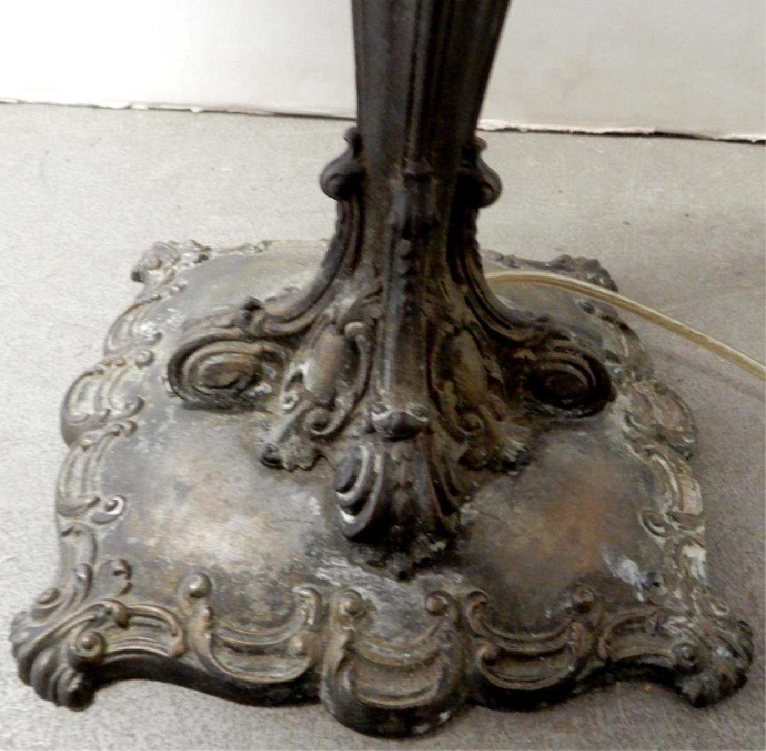 Bradley & Hubbard slag glass panel lamp - 5