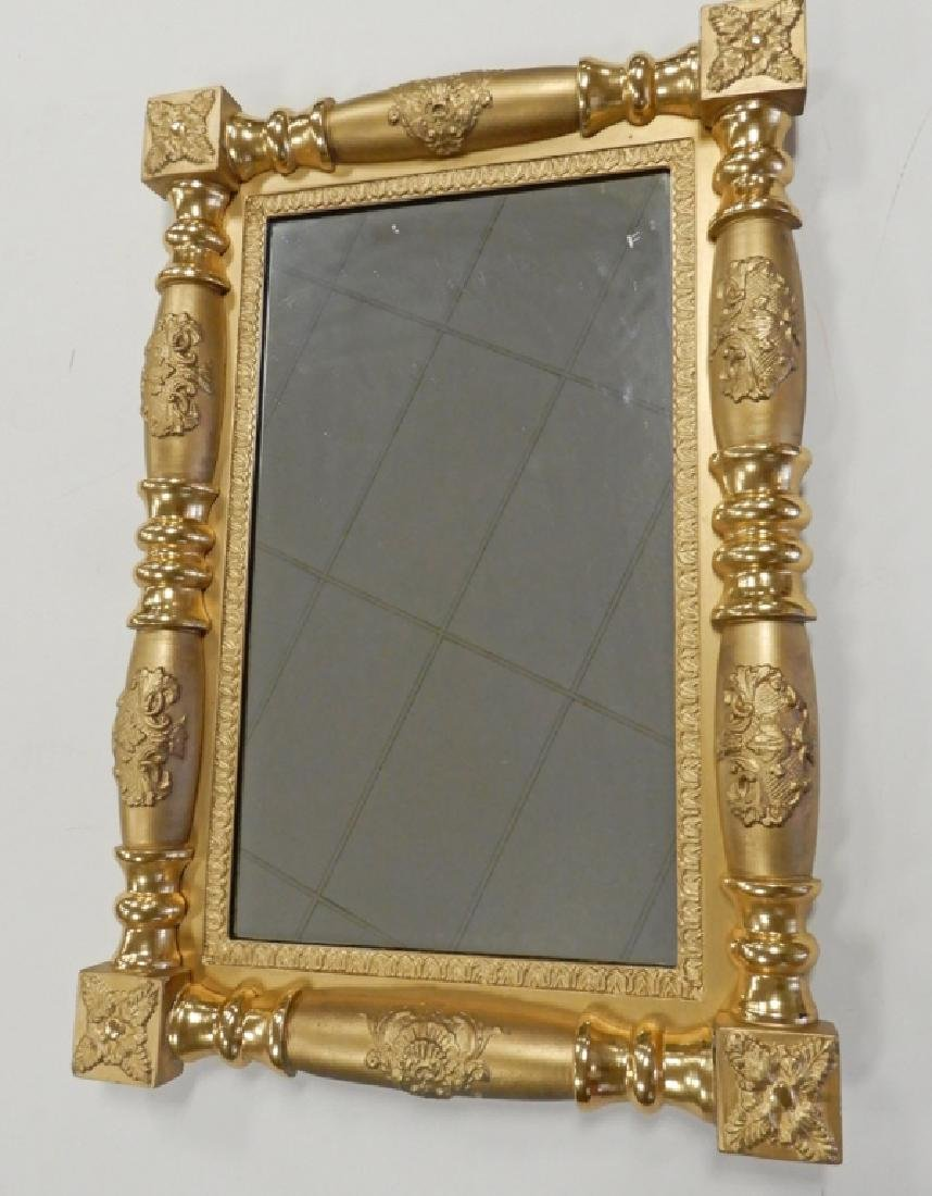 Gold leaf framed mirror - 2