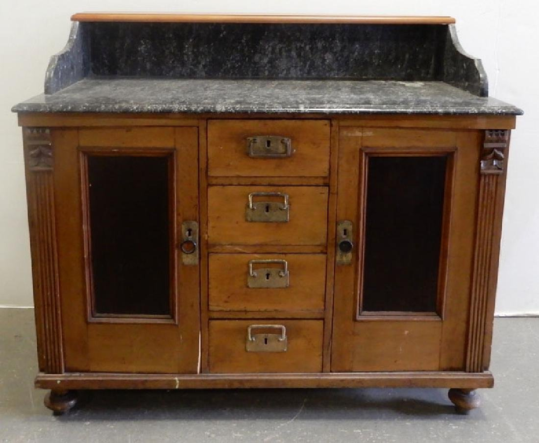 Marble top doctor's cabinet