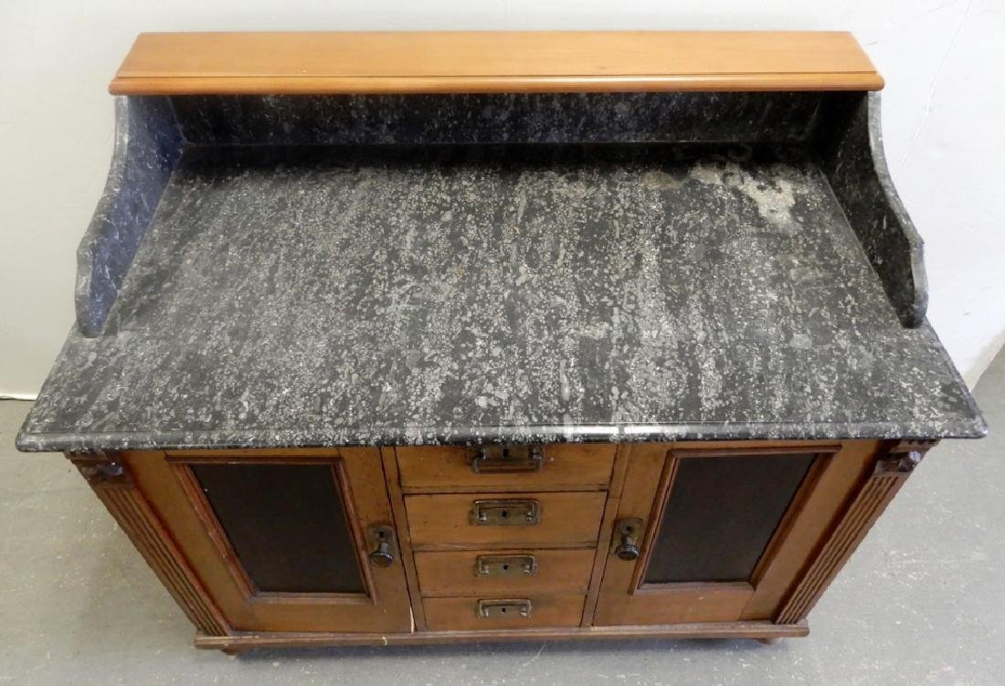 Marble top doctor's cabinet - 3
