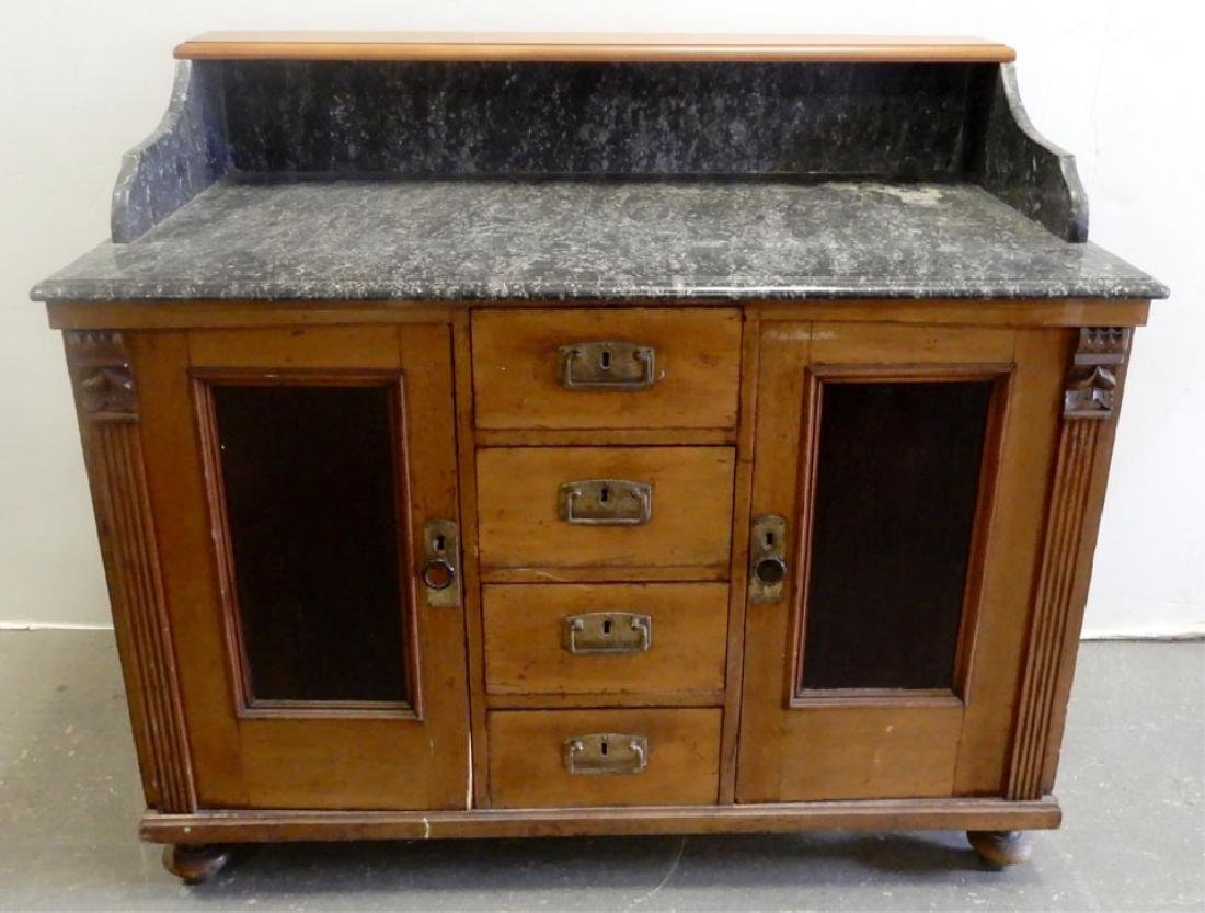 Marble top doctor's cabinet - 5