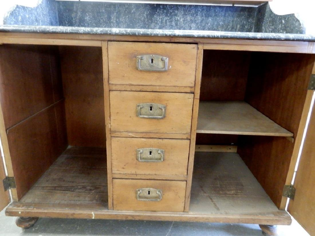 Marble top doctor's cabinet - 7