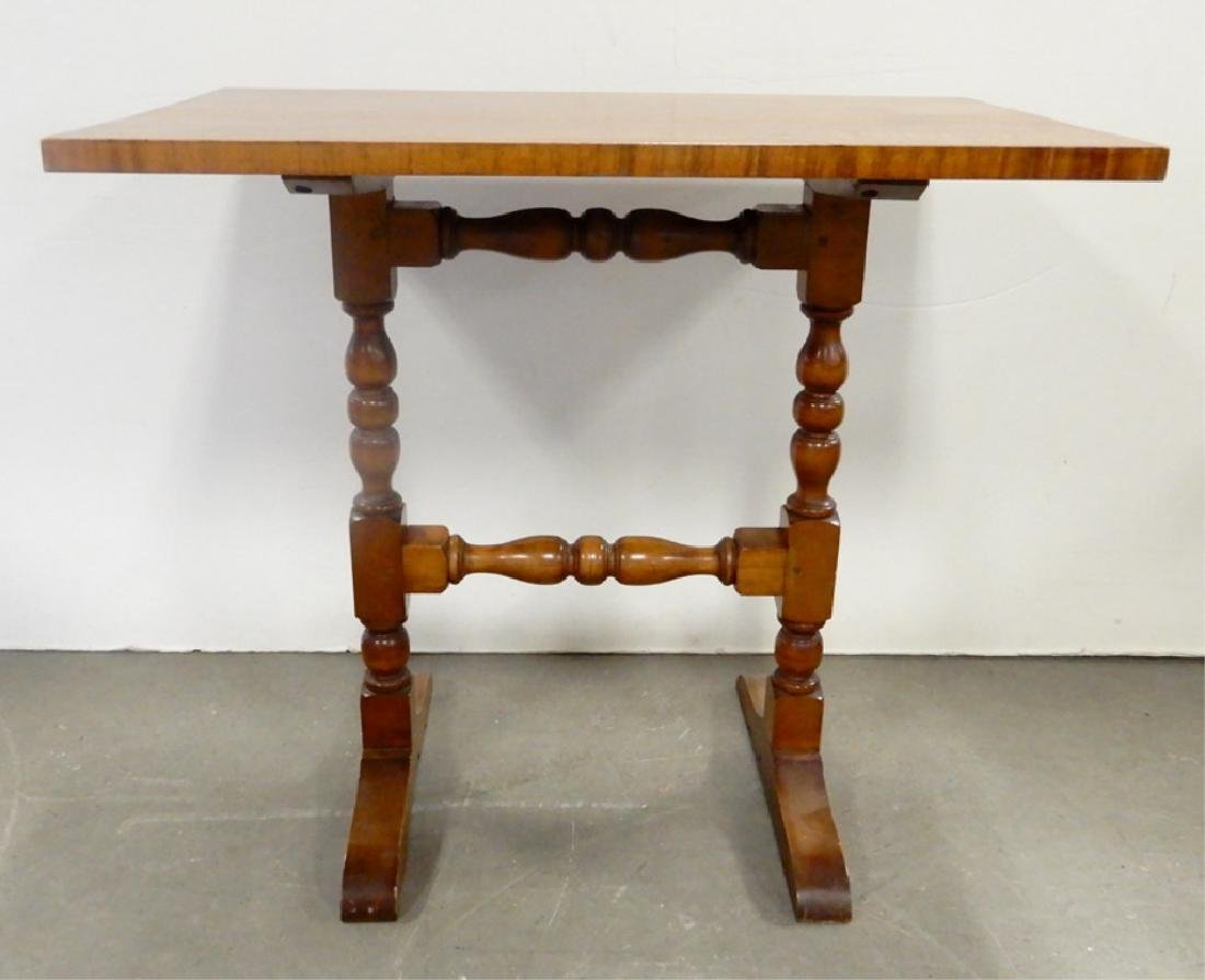 Wallace Nutting maple trestle table