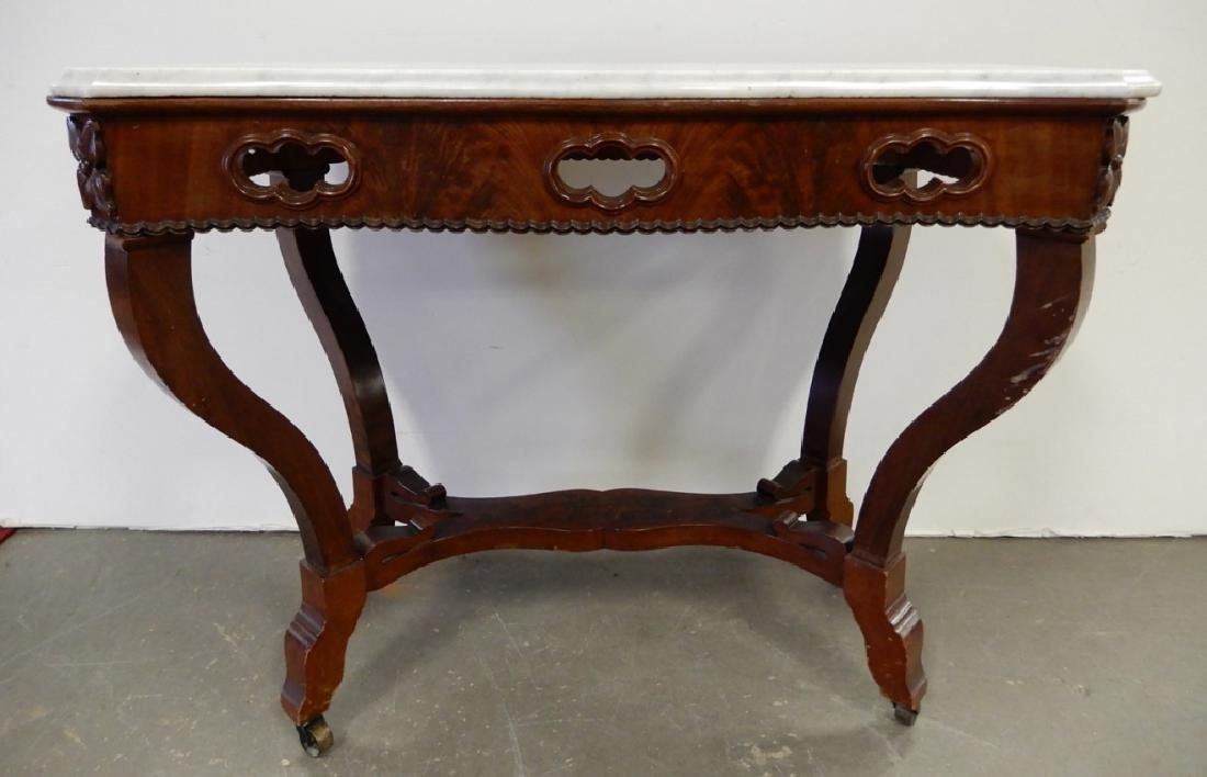 Victorian walnut center table