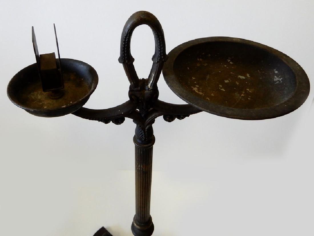 Brass and iron smoking stand - 2
