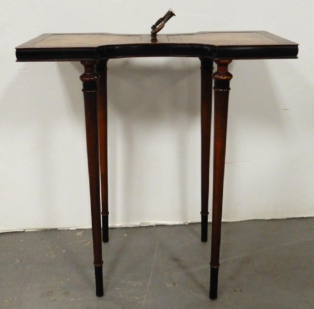 Mahogany stand, three legged stand and a footstool - 2