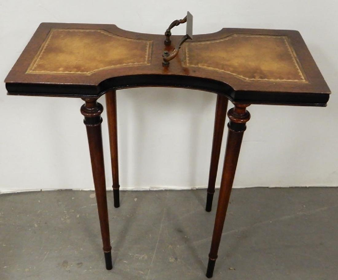 Mahogany stand, three legged stand and a footstool - 3
