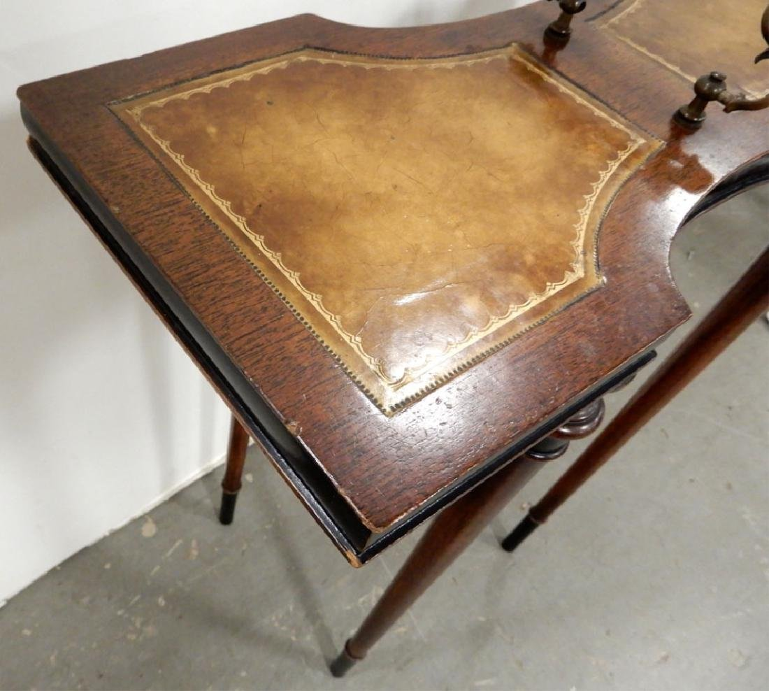 Mahogany stand, three legged stand and a footstool - 6