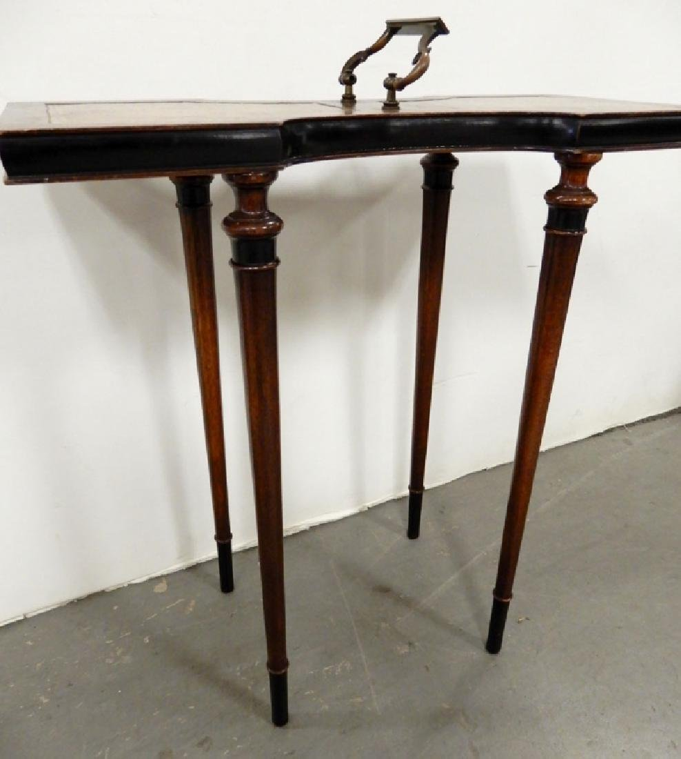 Mahogany stand, three legged stand and a footstool - 7