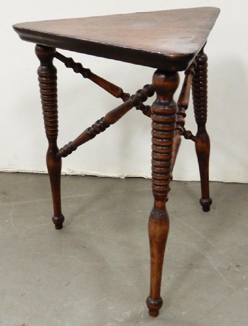 Mahogany stand, three legged stand and a footstool - 8