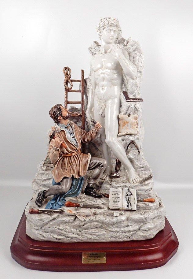 Capodimonte porcelain figure of Michelangelo sculpting