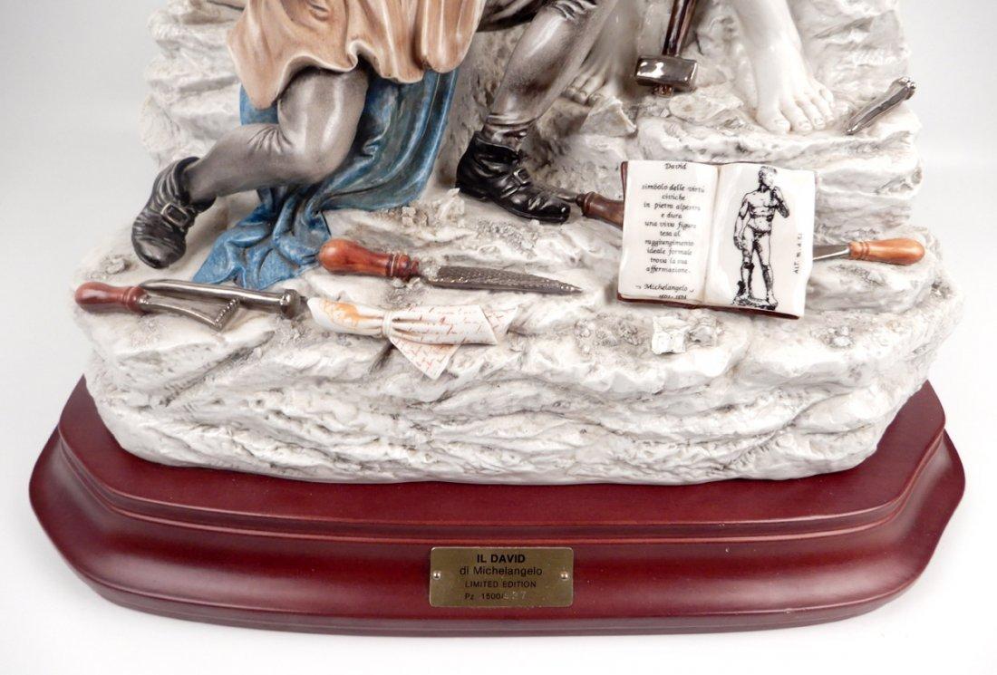 Capodimonte porcelain figure of Michelangelo sculpting - 3