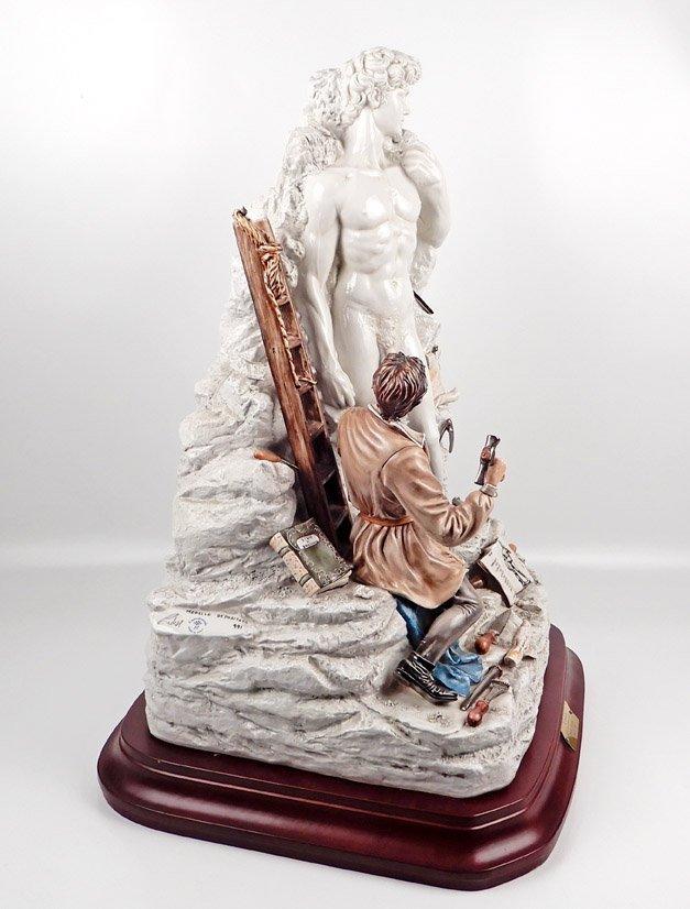 Capodimonte porcelain figure of Michelangelo sculpting - 6