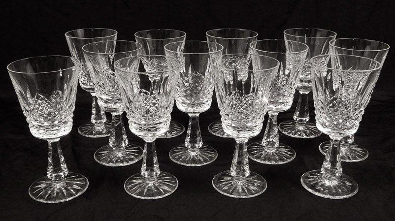 Twelve Waterford crystal Kenmare claret wines